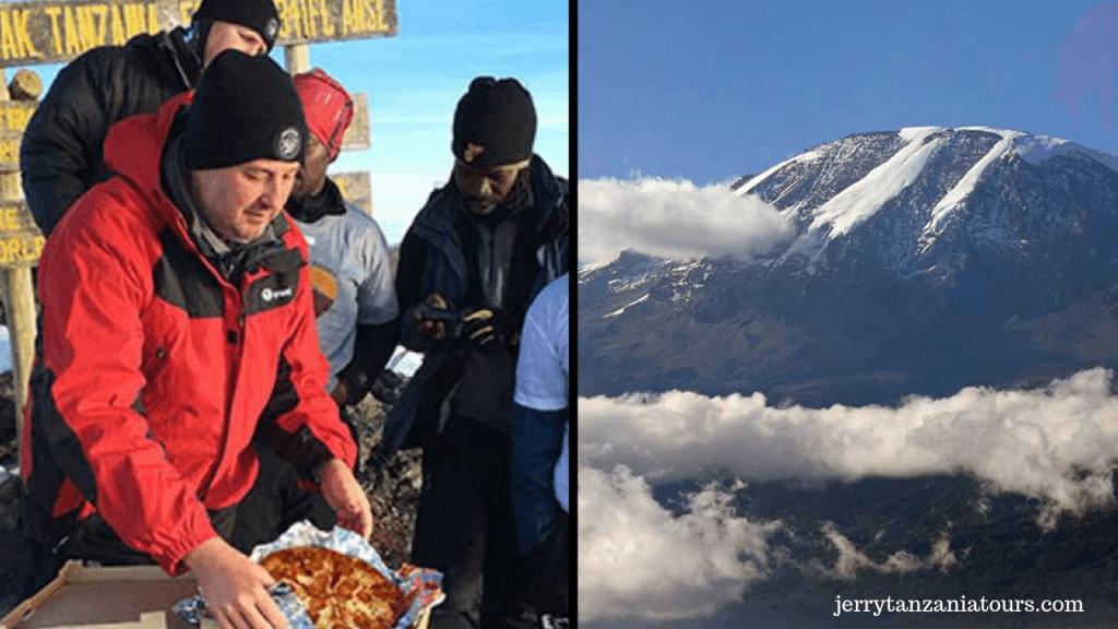 Mount Kilimanjaro pizza delivery on Kilimanjaro Facts