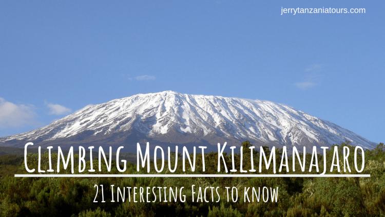 interesting facts of Mount Kilimanjaro