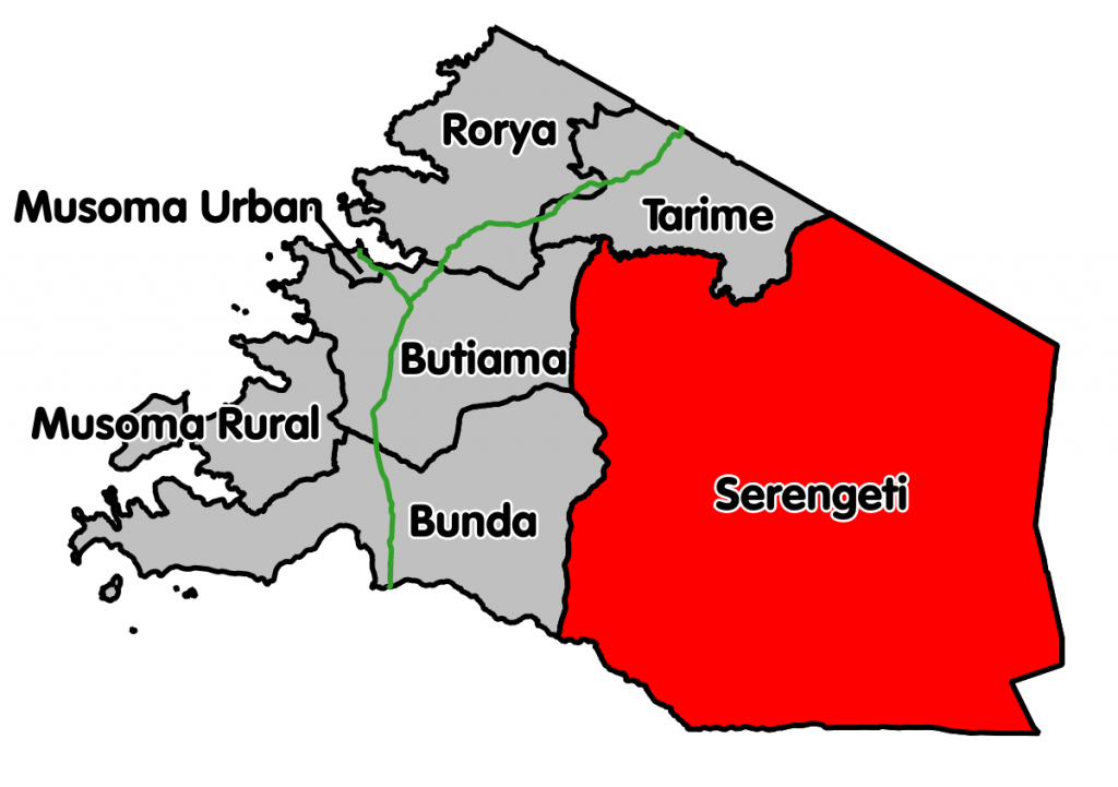 Geographical Location of Serengeti