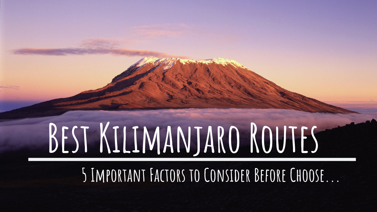 5 Important Factors to Consider Before Choose the Best Kilimanjaro Routes