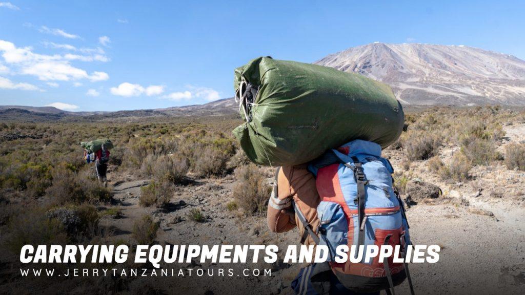 Kilimanjaro Carrying Equipment