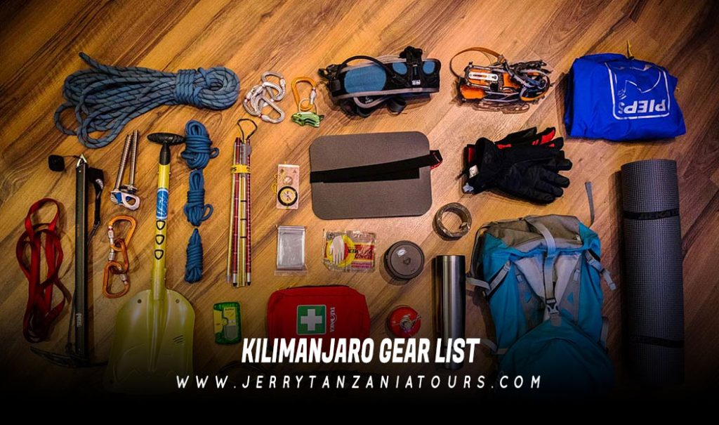 Kilimanjaro Gear List