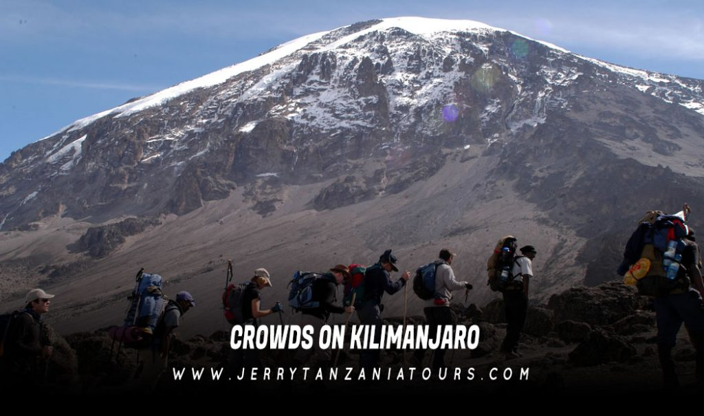Crowds on Kilimanjaro