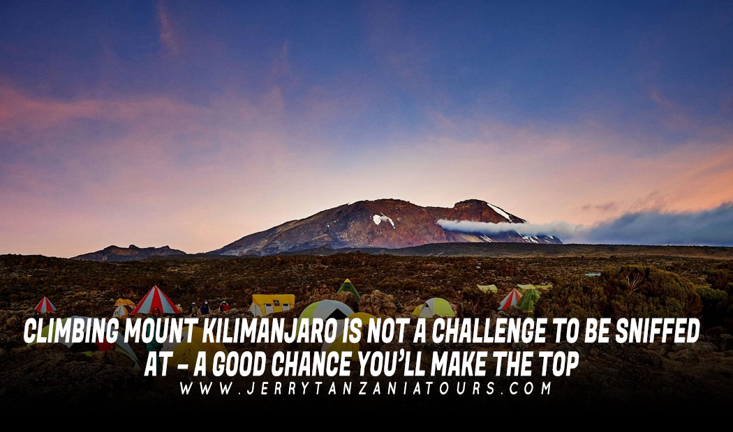 CLIMBING MOUNT KILIMANJARO IS NOT A CHALLENGE TO BE SNIFFED AT – A GOOD CHANCE YOU'LL MAKE THE TOP