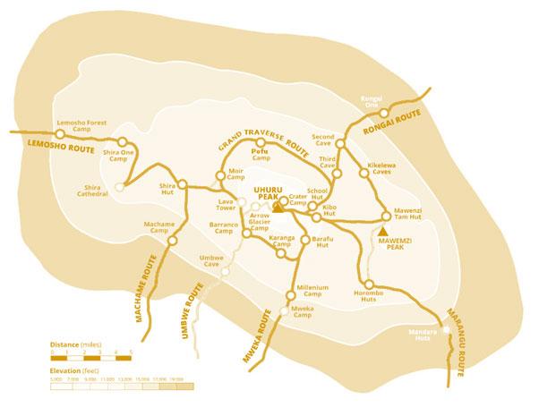 Mount Kilimanjaro Map