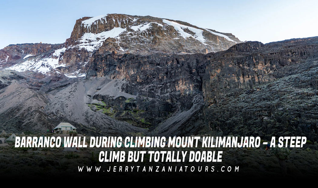 BARRANCO WALL DURING KILIMANJARO CLIMB – A STEEP CLIMB BUT TOTALLY DOABLE