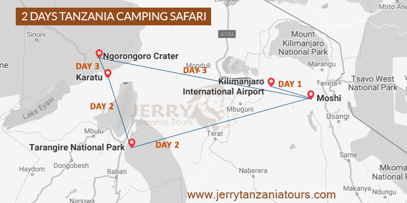 4 Days Zanzibar Beach Holiday Map