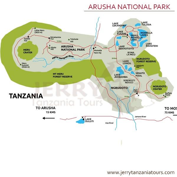 Arusha National Park Map