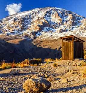 Private Toilet Tents On Kilimanjaro