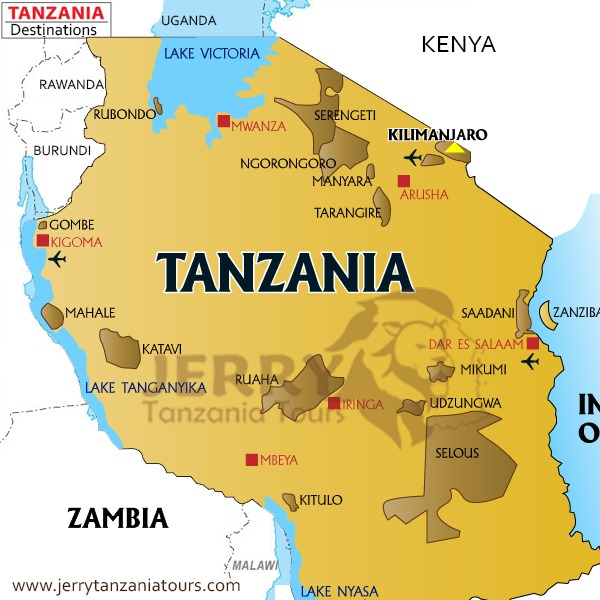 Tarangire National Park Map