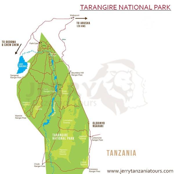 Tarangire Map